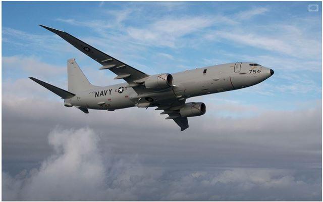 해상초계기 포세이돈(P-8A). 보잉 홈페이지 캡처.