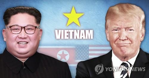 2차 북미정상회담 베트남 개최 사진합성·일러스트 [연합뉴스]