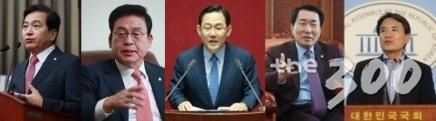 (왼쪽부터)심재철·정우택·주호영·안상수·김진태 의원/사진=머니투데이