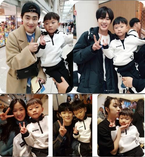 `슈돌` 시안이가 `스카이캐슬` 속 배우들과 만났다. 사진=이수진 인스타그램