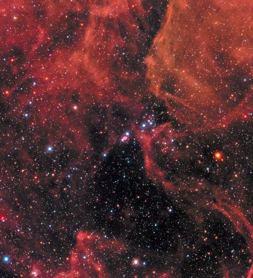 대마젤란은하 내 SN 1987A(정중앙) [NASA/STScI 제공]