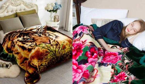 아마존에서 인기를 끌고 있는 '코리안 밍크 벨벳 블랭킷(Korean Mink Velvet Blanket)', 이른바 '할머니 이불'. /JML 제공