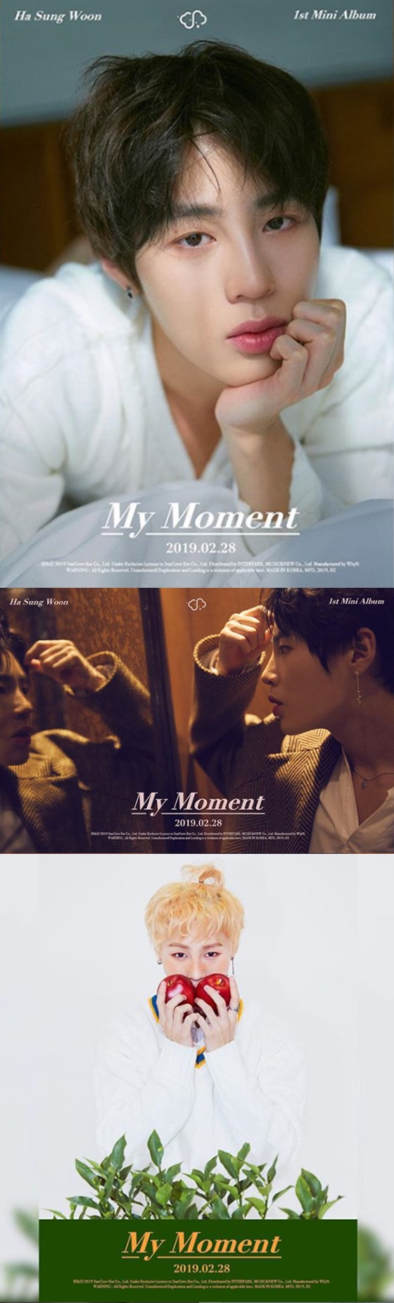 하성운 미니 앨범 'My Momnet' 티저 이미지 /사진=하성운 인스타그램 캡처