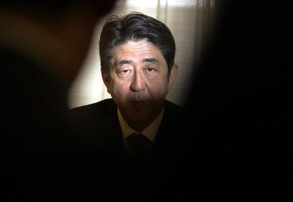 아베 신조 일본 총리. 로이터 연합뉴스