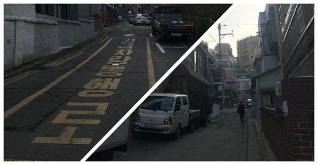 18년 전 '전대미문'의 화재 참사가 벌어졌던 서울 서대문구 홍제동의 골목길. 당시 구조대원들은 25㎏이 넘는 장비를 짊어지고 이 오르막길을 뛰어 올라갔다. 평온했던 지난 달 22일 오후, 여전히 비좁은 길 끝에서 한 주민이 집으로 발걸음을 옮기고 있다. 오리지너.