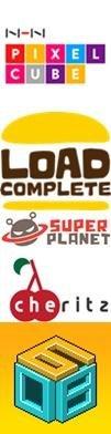 주요 여성 대표 개발사 로고. 위에부터 NHN픽셀큐브, 로드컴플릿, 슈퍼플래닛, 체리츠, 608팩토리.