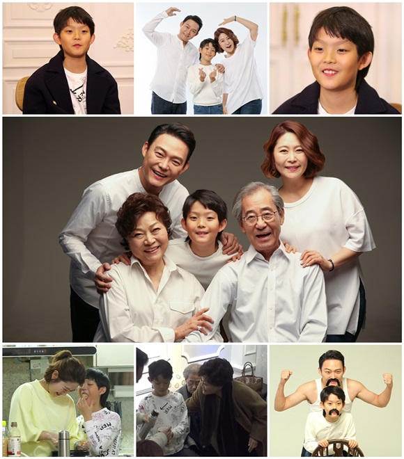 '모던패밀리' 김지영·남성진, 훈남 아들 공개 '웃음만발 가족촬영'