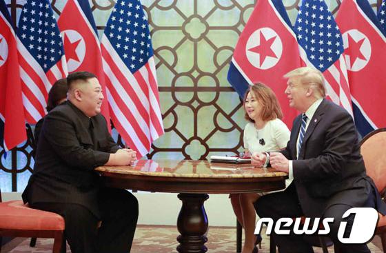 김정은 북한 국무위원장과 도널드 트럼프 미국 대통령.(노동신문) 2019.3.1/뉴스1