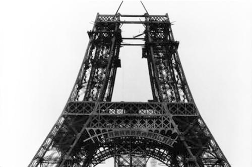 (서울=연합뉴스) 1888년 7월 에펠탑 중간 제작 모습 (에펠탑 홈페이지 캡처)