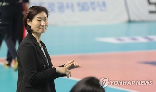 박미희 흥국생명 감독 [연합뉴스 자료 사진]