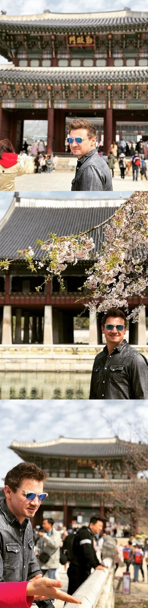 <p>Jeremy Renner on the 13th - hot welcome by Korea to the fans Thank You to.....article was published. Along with this Jeremy Renner at the airport himself to meet for Korea fans and meeting photographs public.</p><p>Jeremy Renner is Gyeongbokgung tour situation. He Palace tour in Seoul for #avengersendgame #hawkeye #presstourcontinues #korea #seouland the hashtag and Gyeongbokgung in a photo taken together.</p><p>Meanwhile Jeremy Renner, this day in Hollywood blockbuster Avengers: End Game to promote car Incheon International Airport through immigration. Jeremy Renner, including Brie Larson for this day to dawn entry and, Robert Downey Jr., this afternoon at Gimpo International Airport through immigration. These are only 15 days until Korea in the official schedule.</p>