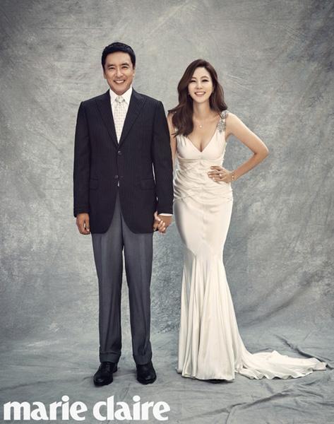 연기자 김승우(왼쪽)·김남주 부부. 사진제공|마리끌레르