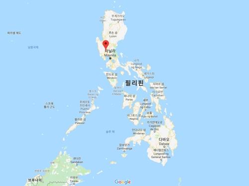 필리핀 북부 팜팡가주 앙헬레스시 [구글지도 캡처]