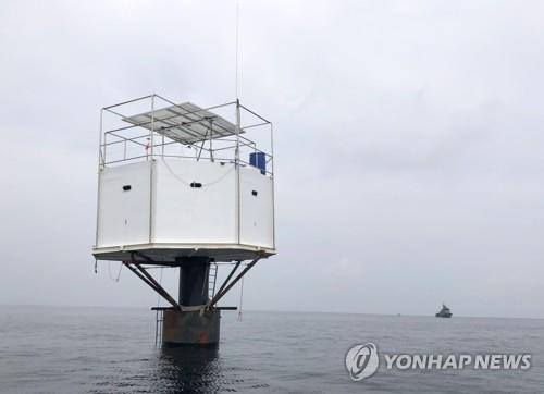 태국 영해 인접 공해상에 설치된 해상부유식 주택 '시스테드' 모습 [EPA=연합뉴스/태국해군 제공]