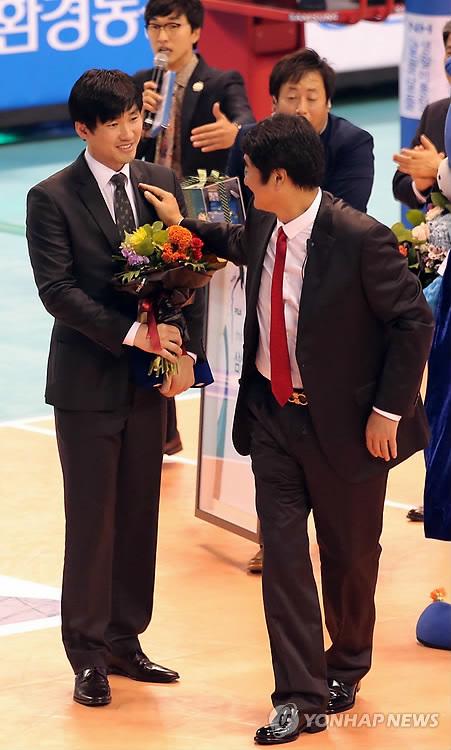 2013년 석진욱 당시 삼성화재 선수의 은퇴식 [연합뉴스 자료사진]