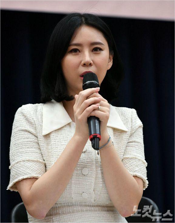 고(故) 장자연 사건의 증인으로 나선 배우 윤지오. (사진=이한형 기자/자료사진)