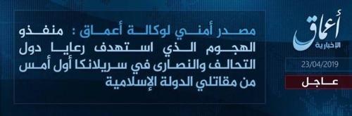 "IS ""국제동맹군 구성원·기독교인 노려 공격했다"" [IS 선전매체 아마크 갈무리]"