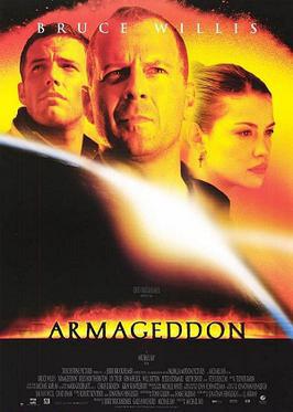 1998년 개봉한 영화 <아마겟돈>의 포스터. 지구로 돌진하는 소행성에 인간이 착륙해 폭파한다는 내용을 담고 있다.