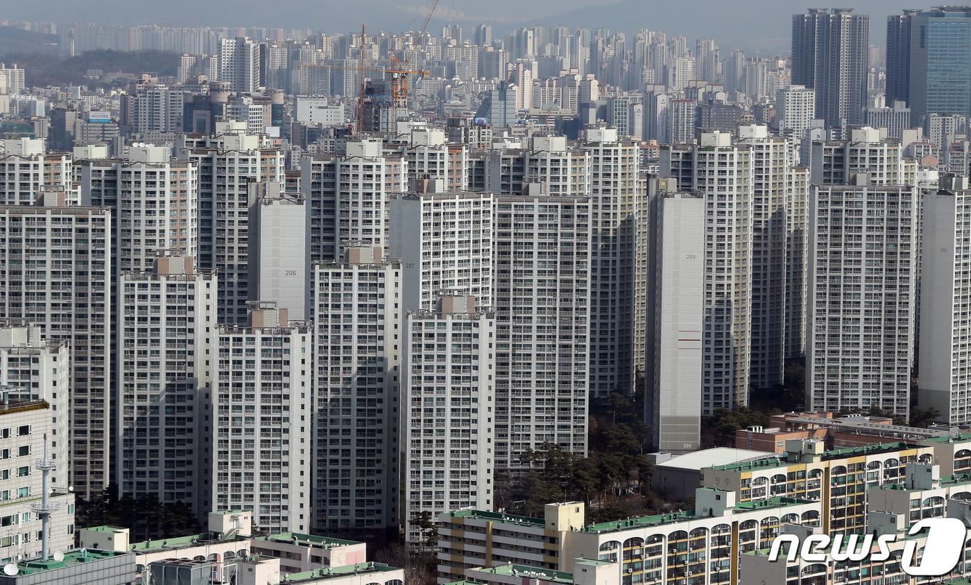 서울의 아파트 단지 모습.© News1 구윤성 기자