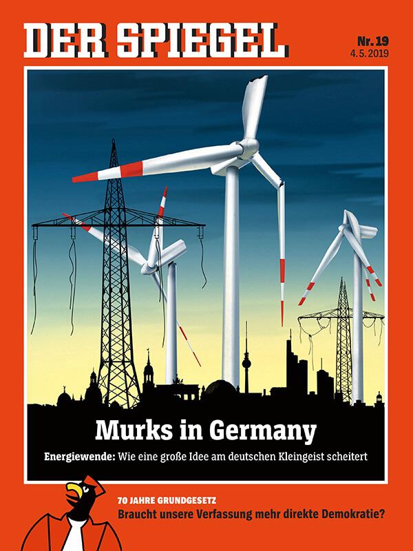 ▲ 독일의 에너지전환을 다룬 독일 주간지 슈피겔의 표지.