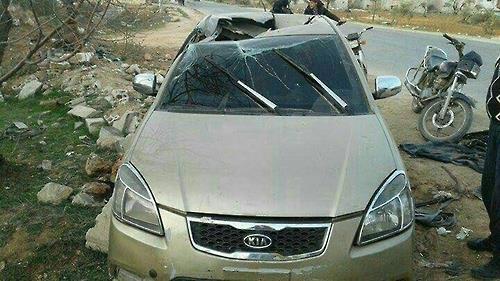 R9X 공격으로 사망한 아부 알카이르 알마스리 탑승 차량 알카에다가 '2인자' 아부 알카이르 알마스리가 사망 당시 타고 있던 차량이라며 소셜미디어에 유포된 사진. [헨리잭슨소사이어티 소속 카일 오튼 연구원 소셜미디어 캡처]