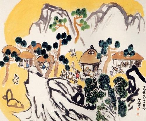 김기창의 '산동(山洞)' 1987