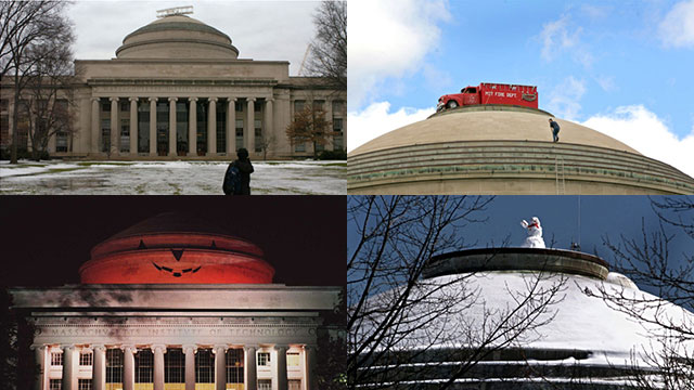 MIT 10동 건물 돔에 학생들이 벌여온 장난(hack) 사례들
