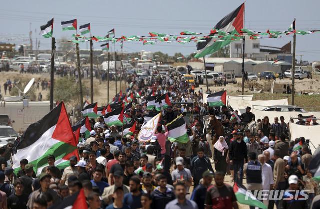 '대재앙의 날' 팔레스타인 시위..진압으로 60명 다쳐[이탈리아리그순위|메이드 토토]