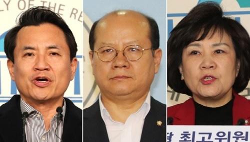 5·18 망언 논란에 휩싸인 자유한국당 김진태, 이종명, 김순례 의원(왼쪽부터). 연합뉴스