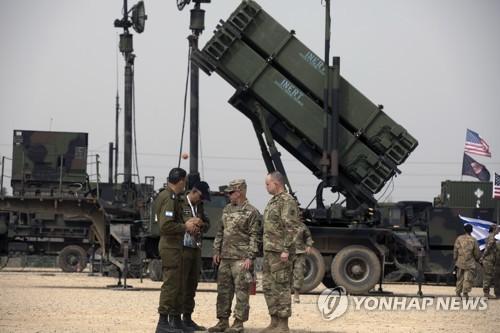 이스라엘에 배치된 패트리엇 미사일방어시스템 [EPA=연합뉴스 자료사진]