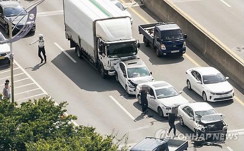 자동차 추돌사고 [연합뉴스 자료사진]