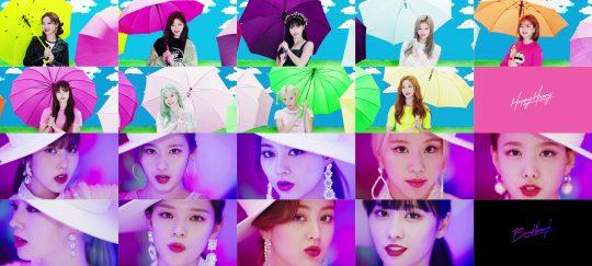 그룹 트와이스의 'HAPPY HAPPY' 'Breakthrough' 뮤직비디오 / 사진제공=JYP엔터테인먼트