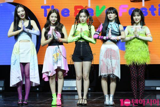 그룹 레드벨벳의 조이(왼쪽부터), 예리, 아이린, 슬기, 웬디. / 이승현 기자 lsh87@