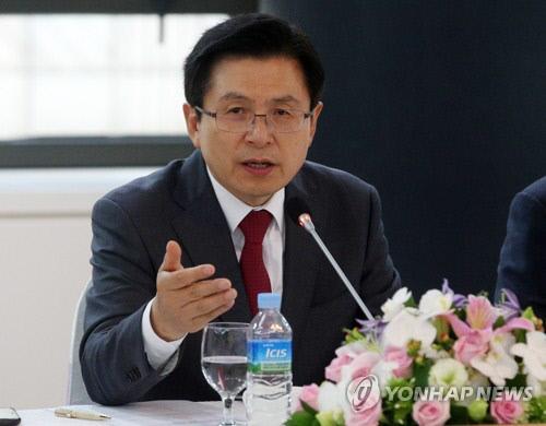 자유한국당 황교안 대표가 19일 오전 부산상공회의소에서 열린 지역 경제인들과 조찬간담회에서 모두발언하고 있다. 연합뉴스