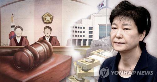 박근혜 '국정원 특활비 상납' 항소심 (PG) [촬영 최자윤]