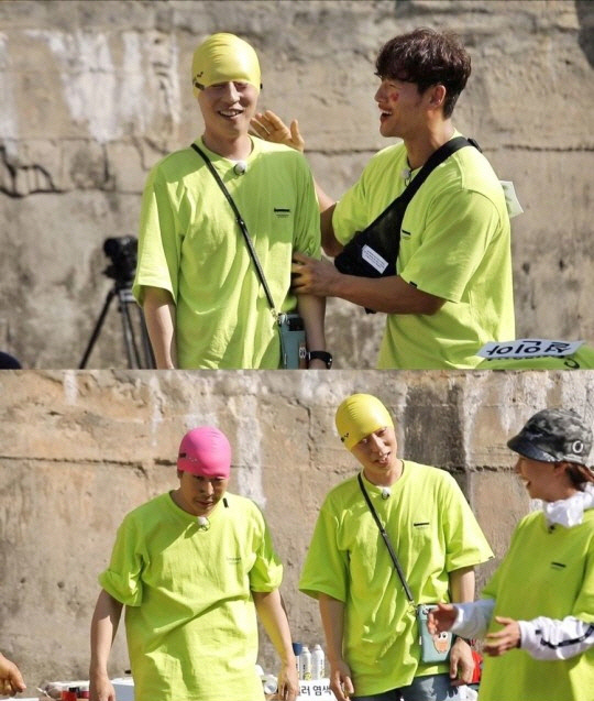 "<p>Yoo Jae Suk and Haha go wear a swim Hanaro Myungsoo Similiar to turns.</p><p>Recently recording two people in a swim cap, I ended up writing it, similar to 'Myungsoo Similiar'to change your character attracted attention. Wear a swim cap Hanaro perfectly Myungsoo changed into two people in the appearance of the members as well as Yoo Jae Suk, Haha the city was amazed, and Lee Kwang-Soo said, ""Myungsoo a few people because,""said laughter, I found myself in.</p><p>Yoo Jae Suk, Haha, is look and laugh part was not only long, but in Myungsoo distinctive vocal selection by unexpected memories endured.</p><p>Meanwhile Myungsoo Similiar as Yoo Jae Suk, Haha all coming 23, 5 p.m., to be broadcast in SBS for <Running Man>at.</p>"