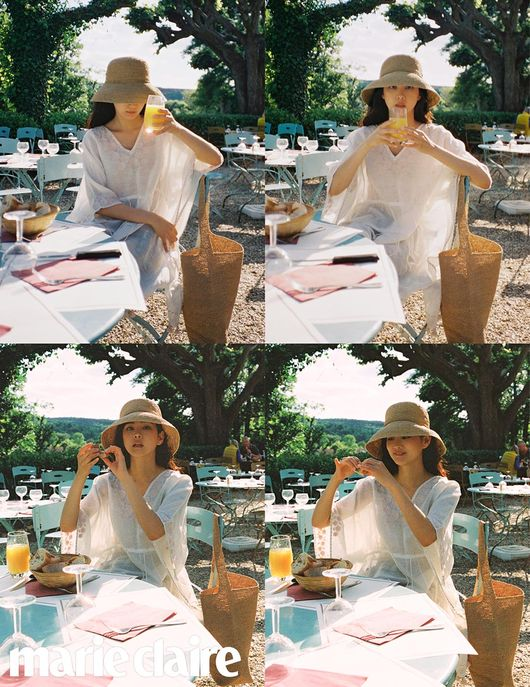 <p> Actress Yoon Seung-ahs laid back everyday look this was natural and pictorial has been released.</p><p>The usual man fashion sense, strutting women of wannabes is Yoon Seung-ah is France The April Fools fashion magazine Marie Claire, along with through natural, while also lovely the.</p><p>The revealed pictorial belongs to Yoon Seung-ah is a white skirt in a Navy dress for layering and trendy raffia hat to wear, while Helen car Ho white Kaftan in raffia material of the Cloche and bag to match for comfortable style for Summer Resort the stain was completed.</p><p>Especially Yoon Seung-ah to wear a Navy dress with a white Kaftan, and raffia material of the hat and the bag is feminine Vacances stain finish gives. Or summer season item design raffia material of hat and bag is a summer daily items offer.</p><p>Meanwhile, Yoon Seung-ah is more of a pictorial for Marie Claire 7 June in the views.</p><p> Marie Claire</p>