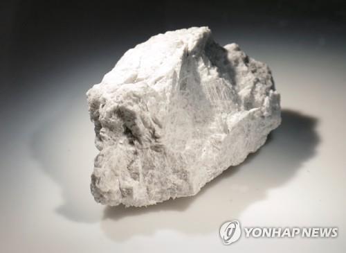 아폴로 15호가 수집해온 '기원석(Genesis Rock)' 약 5㎝ 크기로 질소로 채워진 압력 용기에 보관돼 있다. 약 44억년전에 형성된 사장암(anorthosite)으로 이를 통해 달이 거대한 충격으로 형성됐다는 점을 밝혀냈다. [AP=연합뉴스]