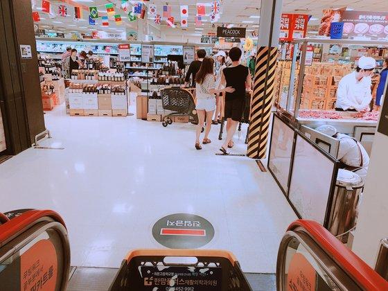 6일 서울 이마트 역삼점. 북적이는 주말 대형마트 풍경은 찾아보기 힘들다. 곽재민 기자