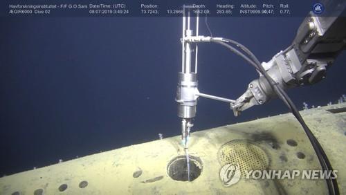30년전 침몰 핵잠수함 조사 장면 [epa=연합뉴스 자료사진]