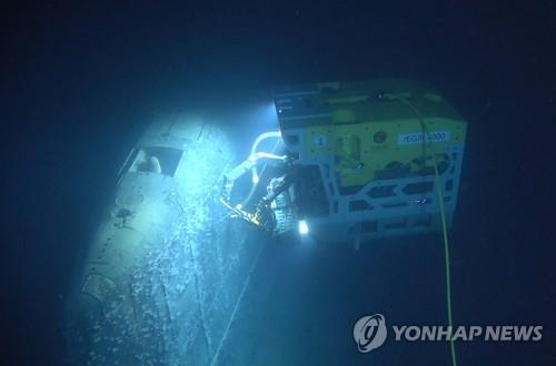 침몰 핵잠수함 콤소몰레츠 조사하는 수중무인탐사기 [epa=연합뉴스]
