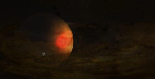 PDS 70 c 주변 행성원반 상상도 [NRAO/AUI/NSF, S. Dagnello 제공]