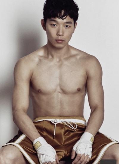 프로복서 김황길이 훈련 도중 찍은 사진.