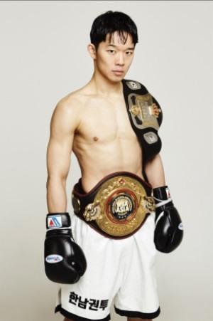 김황길의 복서 프로필 사진. 그는 이 프로필에 '세계챔피언' 다섯 글자를 넣고 싶어한다.