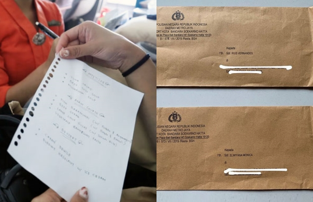 인도네시아의 한 인플루언서가 기내식 메뉴판을 찍어 올렸다가 '명예훼손' 소송에 휘말렸다/사진=리우스 베르난데스