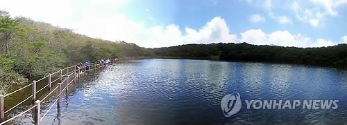 폭우로 장관 이룬 한라산 사라오름 산정호수 [연합뉴스 자료사진]