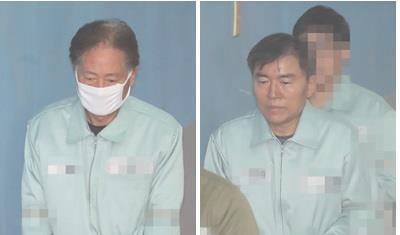 최종흡 전 국정원 3차장과 김승연 전 대북공작국장 [연합뉴스 자료사진]
