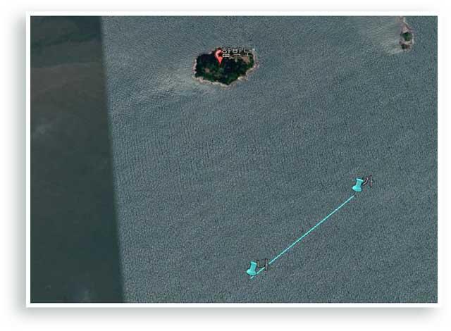 NLL(최단 거리 좌표)과 함박도