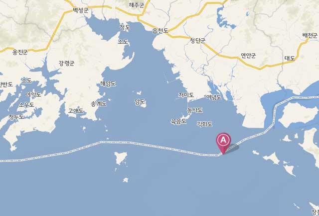 국토지리정보원 지도상 함박도