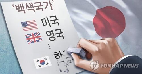 일본, '백색국가' 리스트서 한국 제외…대립 격화(PG)  [권도윤,정연주 제작 일러스트]